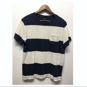 J. Crew |Soft Striped T-shirt Relaxed EUC